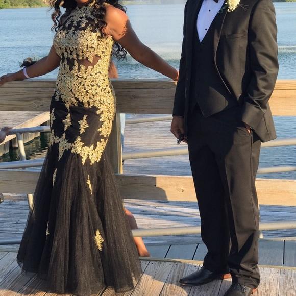 57% off Dresses Black And Gold Mermaid Prom Dress | Poshmark